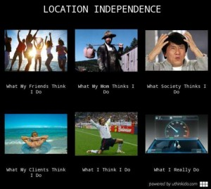 location independence humour